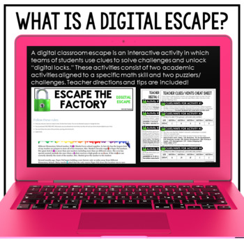 FREEBIE Google Classroom Digital Escape Math Digital Escape Room Math Review