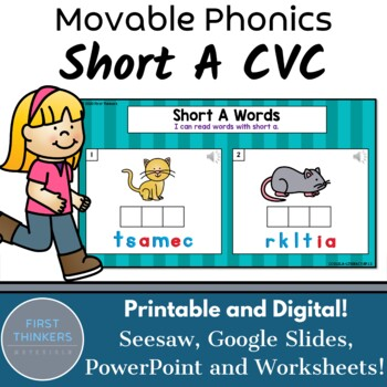 CVC Short A Phonics Games Google Slides