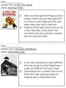 FREEBIE Grade 3 Journeys Unit 1 Week 1 Written Responses