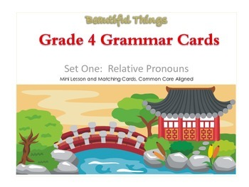 FREEBIE - Grade 4 Grammar Mini Lesson and Matching Cards, Common Core Aligned