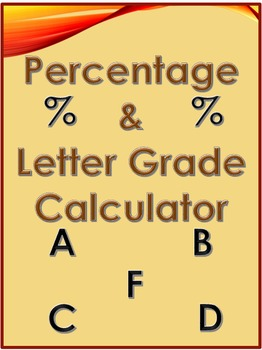 FREEBIE - Percentage and Letter Grade Calculator (in Excel)