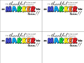 FREEBIE: Grade Team Gift Tags, reMARKERble!