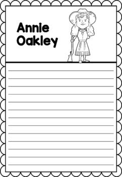 Graphic Organizer : Annie Oakley