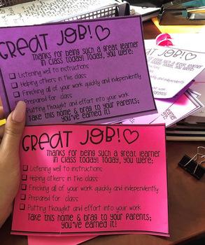 FREEBIE - Great Learner Brag Sheet