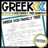 Greek Mythology FREEBIE ... Family Tree of the Greek Gods