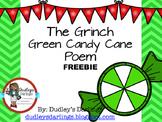 FREEBIE: Grinch Candy Cane Poem