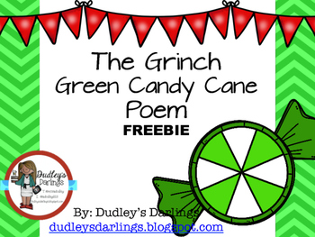 FREEBIE: Grinch Candy Cane Poem