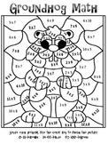 FREEBIE! Groundhog Day Multiplication Mosaic-Fun!