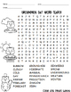 FREEBIE - Groundhog Day Word Search (includes answer key)