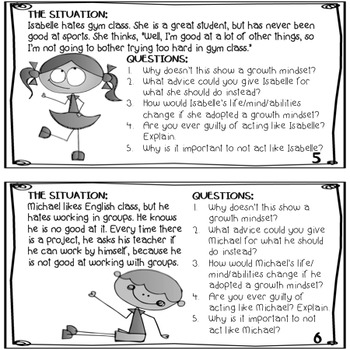 FREEBIE! Growth Mindset Task Cards