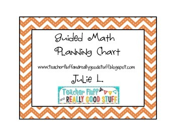 FREEBIE Guided Math Planning Page