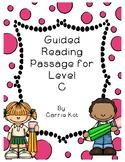FREE Leveled Reading Level C with Running Record