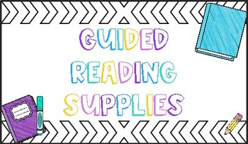 FREEBIE Guided Reading Supplies Label