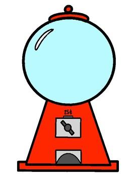 Free Bubble Gum Machine Coloring Page, Download Free Clip Art ... | 350x270