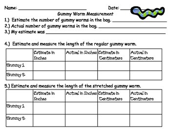 FREEBIE Gummy Worm Measurement