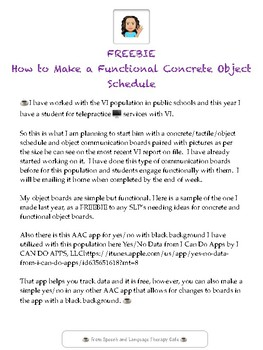 FREEBIE HOW TO MAKE A FUNCTIONAL CONCRETE OBJECT SCHEDULE FOR VI STUDENTS