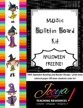 FREEBIE - Halloween Alphabet Bunting and Border