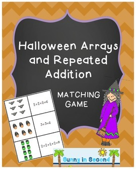 Halloween Arrays and Repeated Addition Match Game