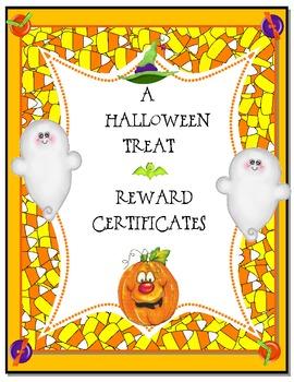 FREEBIE!  Halloween Award Certificates