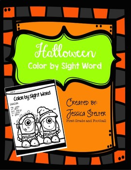 FREEBIE Halloween Color By Sight Word