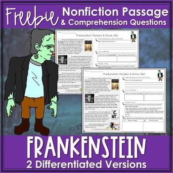 FREEBIE: Halloween Differentiated Nonfiction Reading Passage: Frankenstein