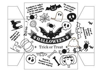 FREEBIE Halloween Facts Trick or Treat Rectangular Prism Basket Maths 3D shapes