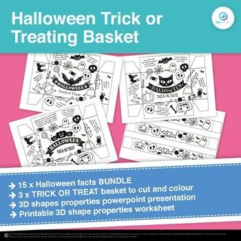 FREEBIE Halloween Facts Trick or Treat Rectangular Prism B