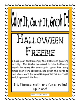 Halloween FREEBIE: Fun Graphing Acitivity - Color It, Count It, Graph It!