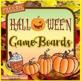 FREEBIE Halloween Game Boards NO PREP NO PRINT - Teletherapy