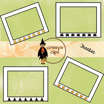 FREEBIE Halloween Index sized frames