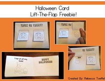 FREEBIE!! Halloween Lift the Flap Card