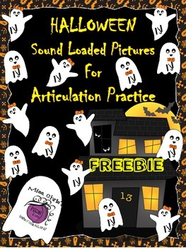 FREEBIE Halloween Sound Loaded Pictures for Speech Therapy ~~J~~