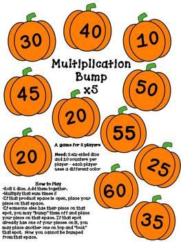 FREEBIE Halloween Multiplication Bump Game