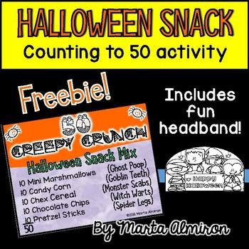 FREEBIE! Halloween Snack: CREEPY CRUNCH {Count to 50 Activity}