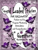 "FREEBIE Halloween Sound Loaded Short Story for Speech Therapy with ""WH"" ?"