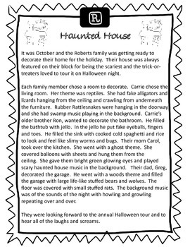 Halloween Sound Loaded Short Story for Speech Therapy with