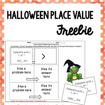 FREEBIE Halloween Themed Place Value Practice {Common Core Aligned}