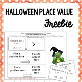 Halloween Themed Place Value Practice {FREE}