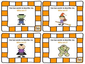 FREEBIE! Halloween-Themed Receptive & Expressive Language Game