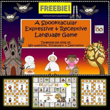 FREEBIE! Halloween-Themed Receptive & Expressive Language Game