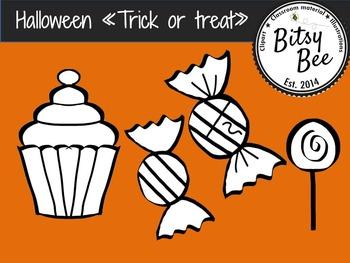 "FREEBIE Halloween ""Trick or Treat"" (Bitsy Bee Clip Art)"