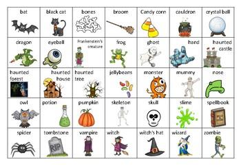 FREEBIE! Halloween Word Bank