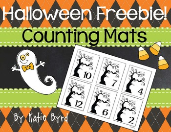 FREEBIE - Halloween counting mats - Spooky trees