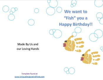 FREEBIE! Hands On Card activity for Birthday, Mother's & Father's Day!