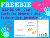 FREEBIE! Hands On Card activity for Birthday, Mother's & F