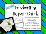 FREEBIE!  Handwriting Alphabet Cards