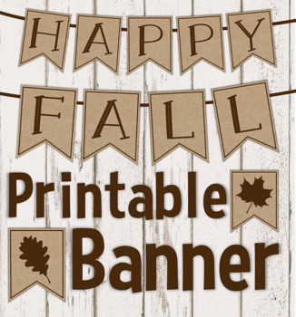 FREEBIE- Happy Fall Banner