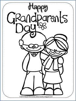 Grandparents day free by nicole hernandez a teacher 39 s for Coloring pages for grandparents