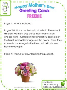 FREEBIE: Happy Mother's Day Greeting Cards