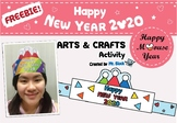FREEBIE!  Happy New Year Activities 2019 ( New Year Art Craft 2019)